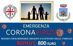 Misure straordinarie e urgenti a sostegno delle famiglie per fronteggiare l'emergenza economico - sociale derivante dalla pandemia SARS-COV-2