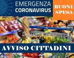 Buoni spesa - Emergenza Coronavirus - info per il cittadino