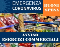 Buoni spesa - Emergenza Coronavirus - info per gli esercizi commerciali